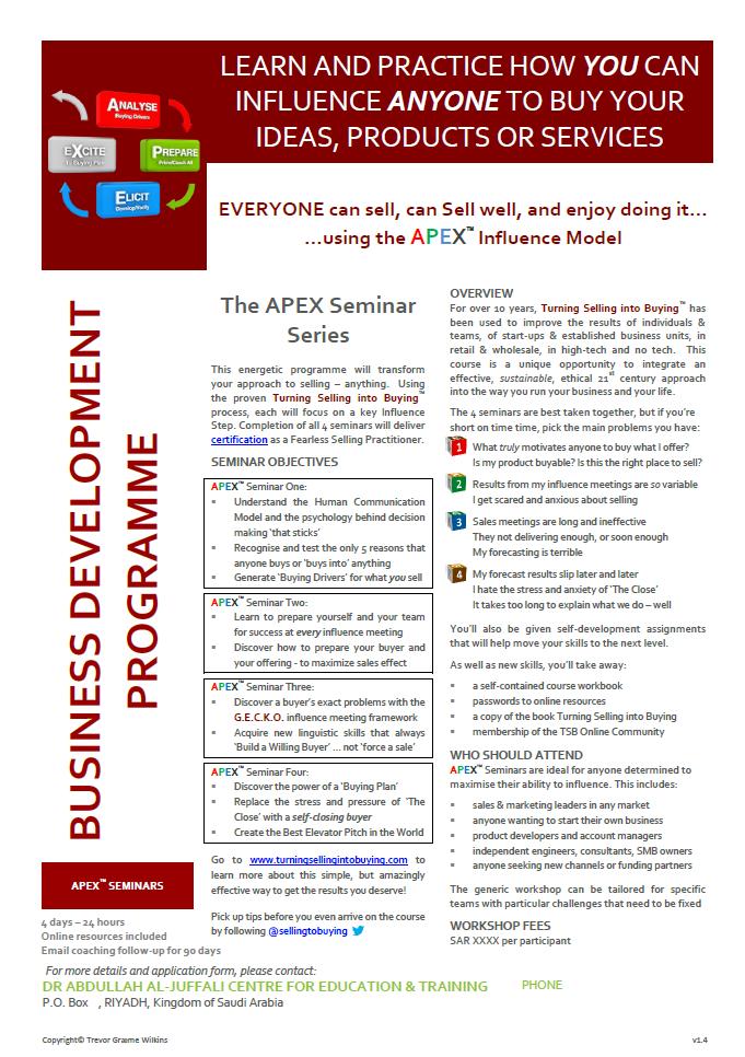 APEX Seminars Flyer